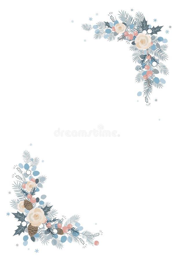 neue Ideen, das Haus zu verzieren dieses Weihnachten Lokalisierter Rahmen auf einem weißen Hintergrund vektor abbildung