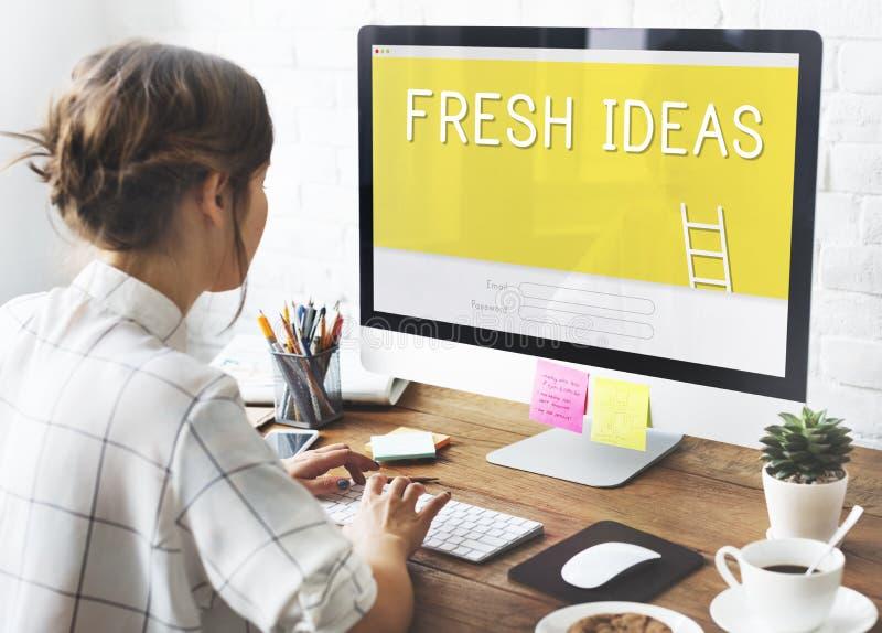 Neue Ideen-Kreativitäts-Design-Innovations-Konzept stockfotografie