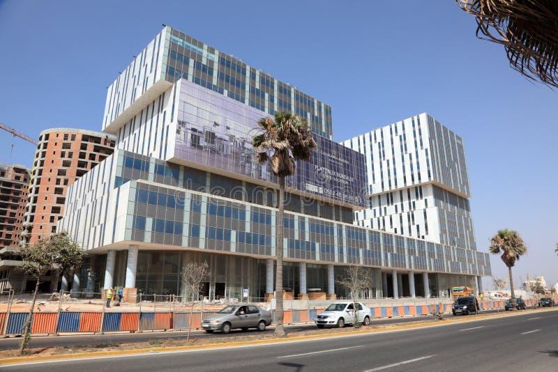 Neue Jachthafengebäude in Casablanca stockbilder
