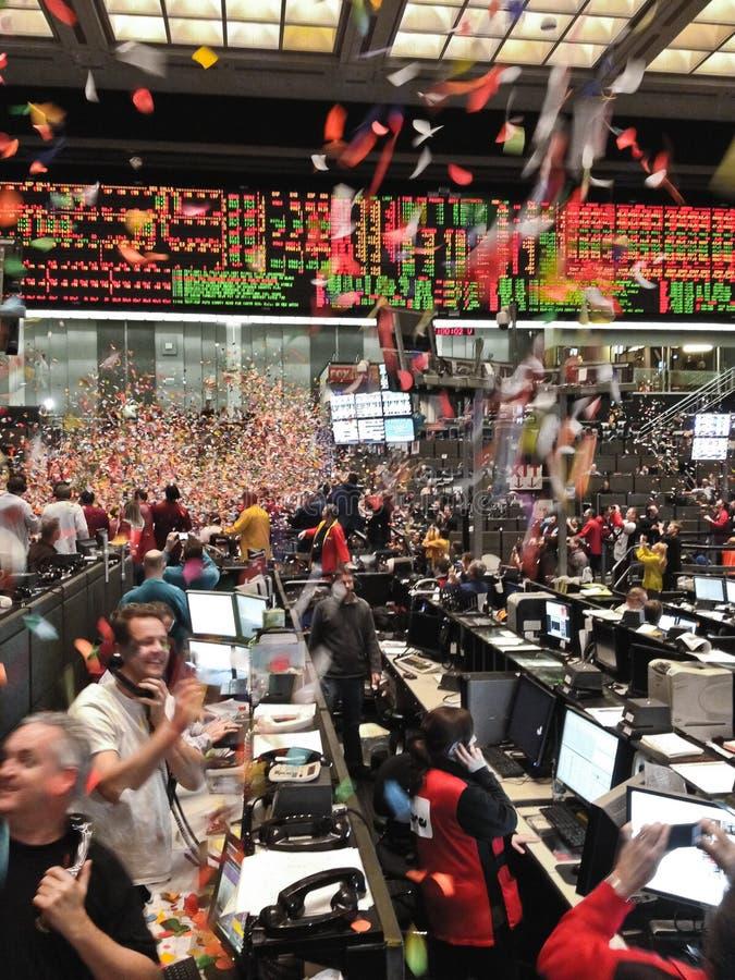 Neue Jahre Chicago-Handelskammer Bewegungszittern stockfoto