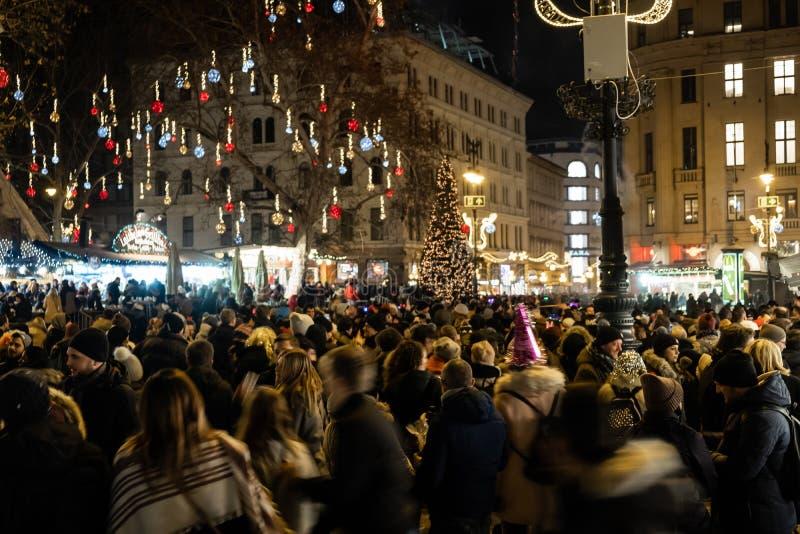 Neue Jahre Ereignis in Budapest lizenzfreie stockfotos