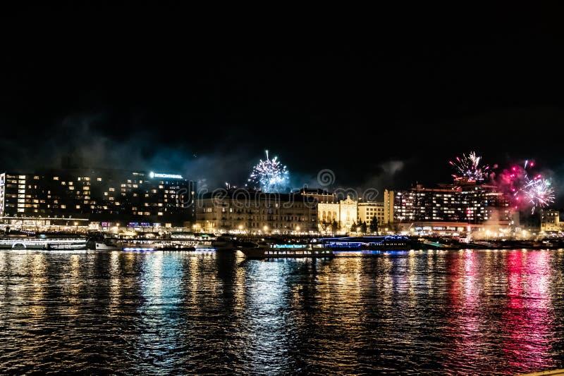 Neue Jahre Ereignis in Budapest stockbilder