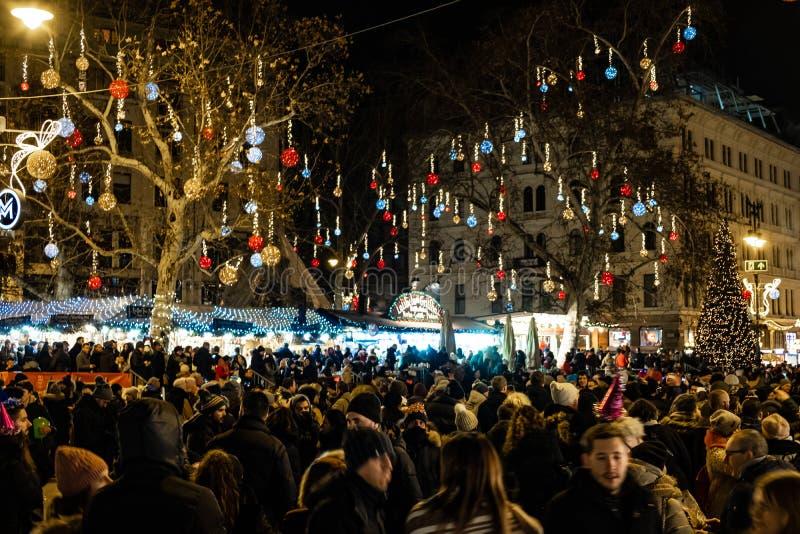 Neue Jahre Ereignis in Budapest stockfoto