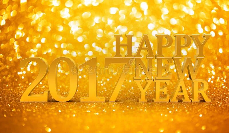 2017 neue Jahre Funkeln stock abbildung