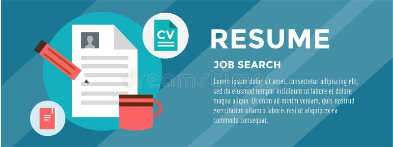 Neue Jobsuche Infographic Einstellung, Büro lizenzfreie abbildung