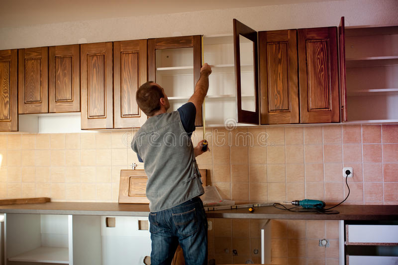 Download Neue Küche stockfoto. Bild von verbesserung, haus, fachmann - 12244652