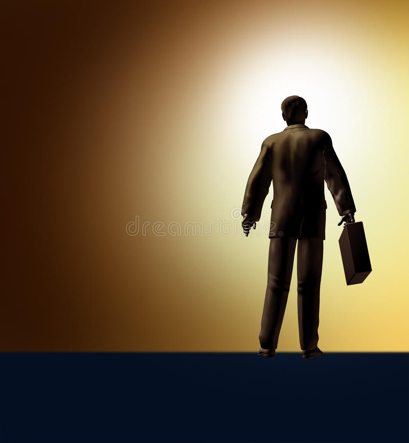 Neue Karriereerfolgsanfangsreiseherausforderung erobern lizenzfreie abbildung