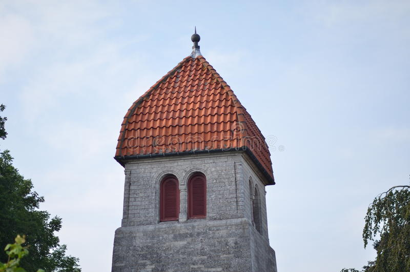 Neue Kirche Højerup stockfotos