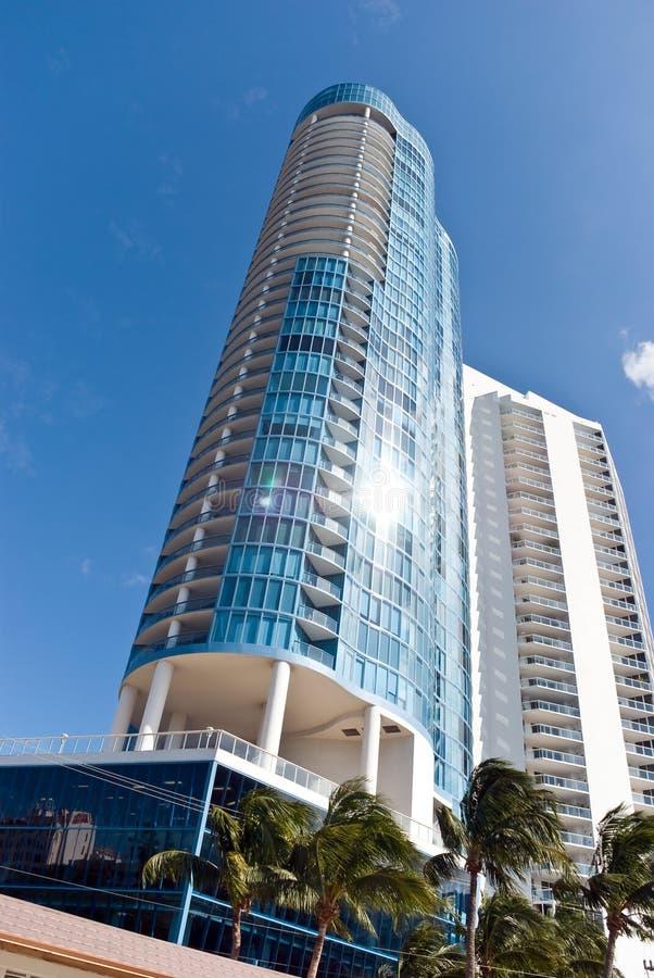 Neue, Luxuxkondominien in Fort Lauderdale, blumig stockfotografie