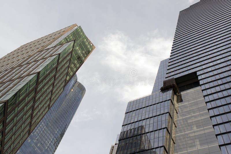 Neue moderne Wolkenkratzer in New York City stockbilder