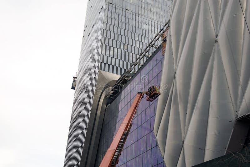 Neue moderne Wolkenkratzer in New York City lizenzfreies stockbild