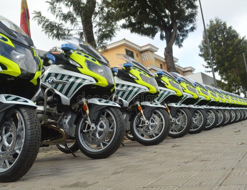 Neue Motorräder für Guardia höflich stockfotografie
