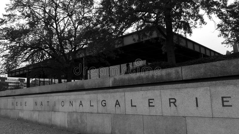 Neue nationale galerie royalty-vrije stock foto