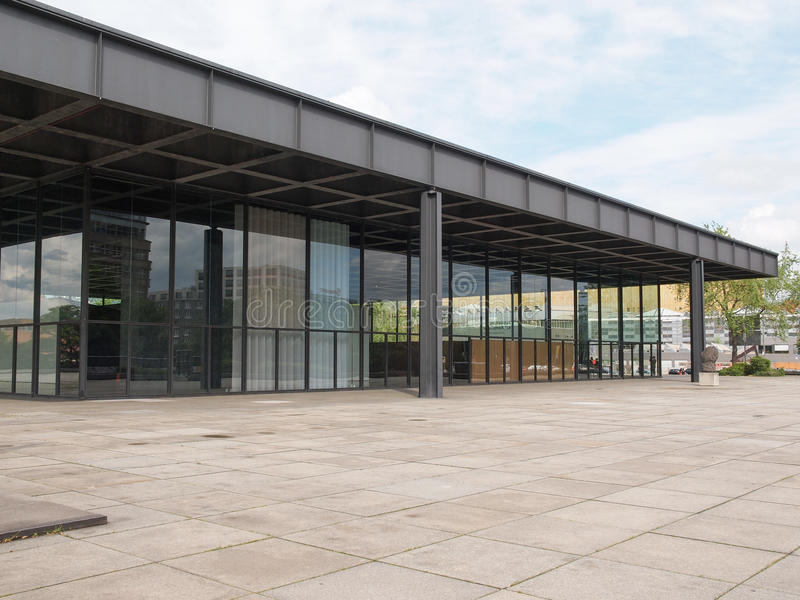 Neue Nationalgalerie photo stock