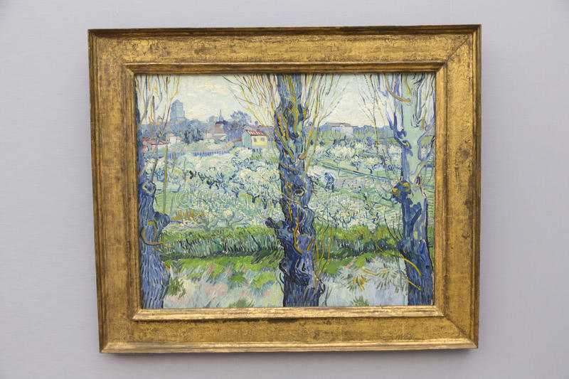 The Neue Pinakothek - Vincent van Gogh. The Neue Pinakothek New Pinakothek is an art museum in Munich, Germany. Its focus is European Art of the 18th and 19th royalty free stock images