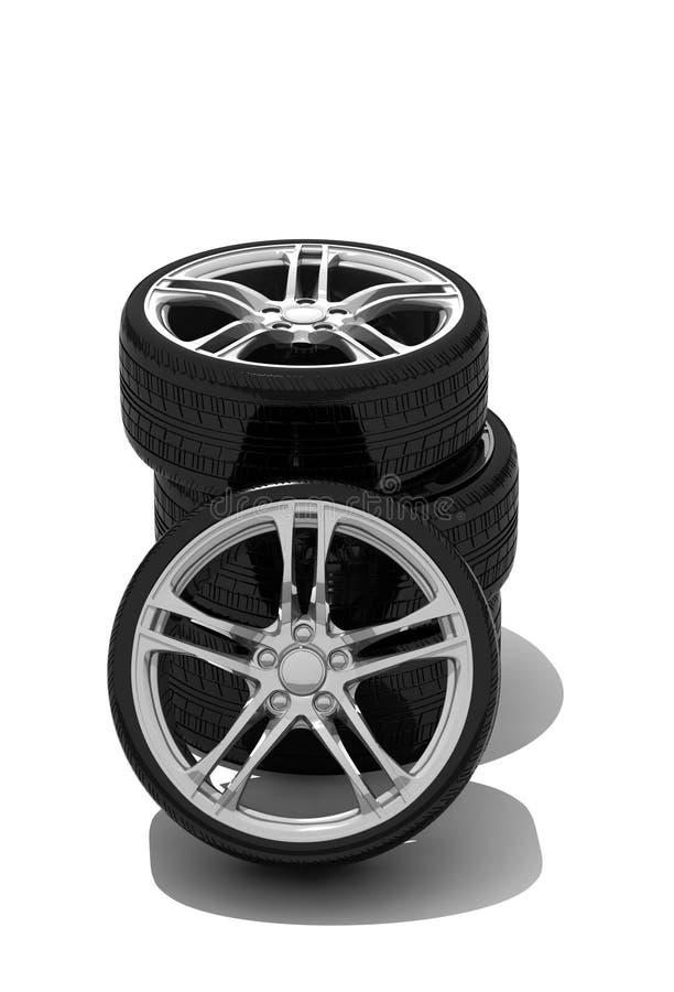 Neue Räder mit Stahlfelge vektor abbildung