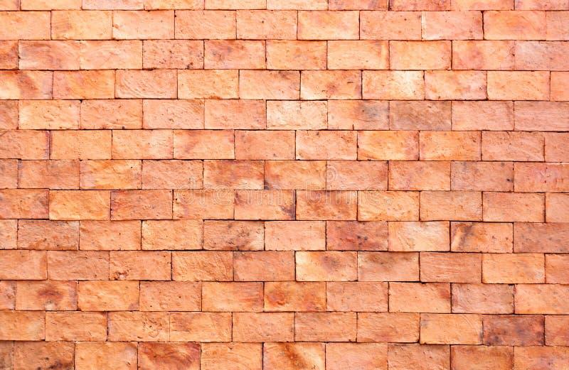 Neue rote Backsteinmauer stockfotos