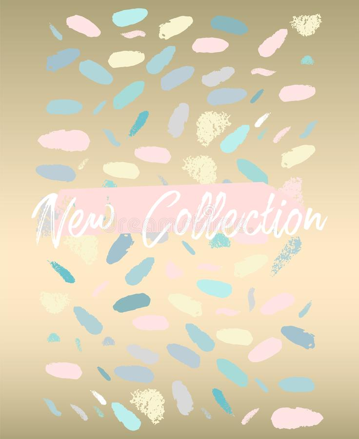 Neue Sammlungsmode-Titelkonfettis stock abbildung
