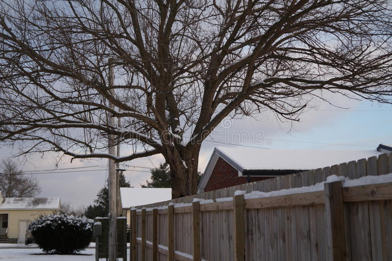 Neue Schneefälle stockfotos