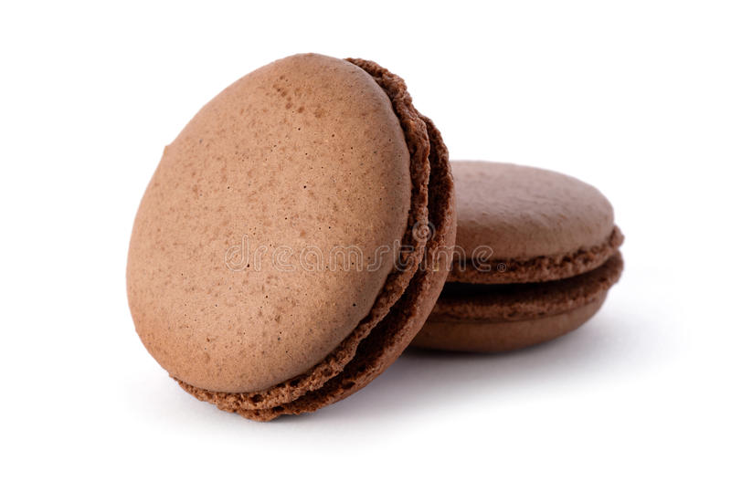 Neue Schokolade macarons lizenzfreies stockbild