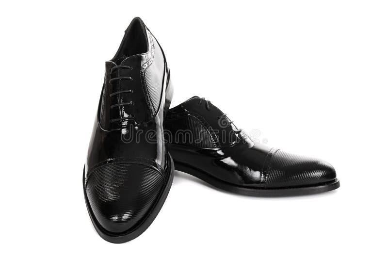 Neue schwarze männliche Schuhe lizenzfreie stockfotos