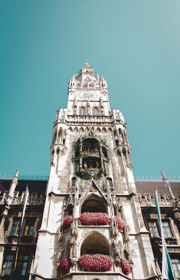 Neue Stadt Hall German: Neues Rathaus; Zentraler Bayer: Neis Rathaus lizenzfreies stockbild