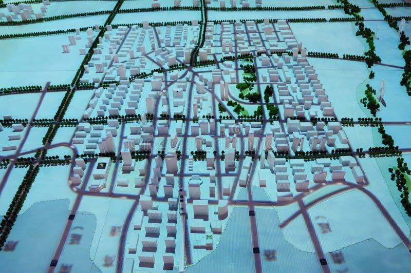 Neue Stadt verteilen Plan lizenzfreies stockbild