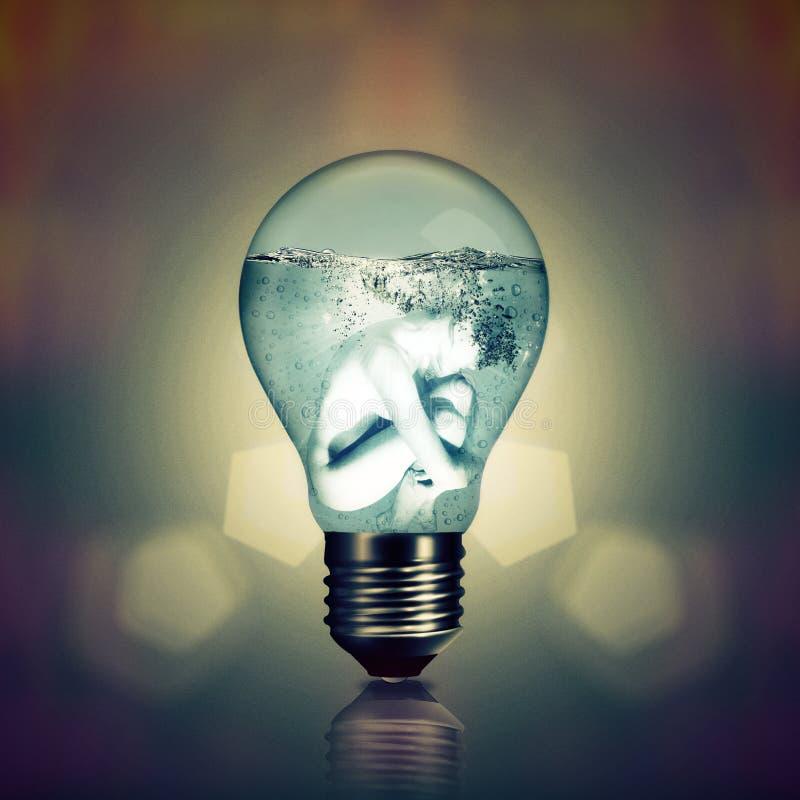 Neue Stromerzeugung lizenzfreie stockbilder