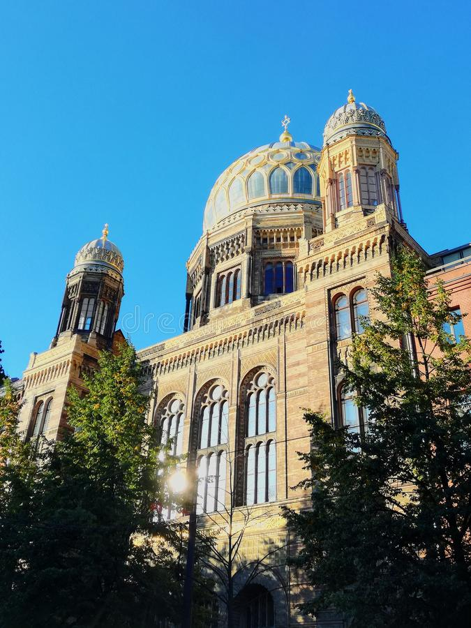 Neue Synagoge imagem de stock