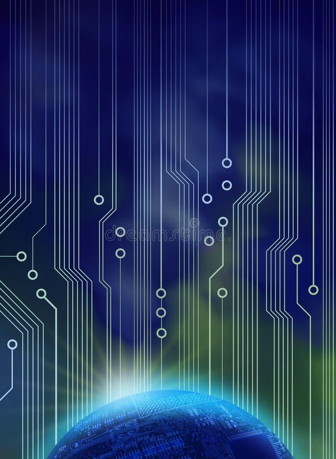 Neue Technologiedämmerung lizenzfreie abbildung