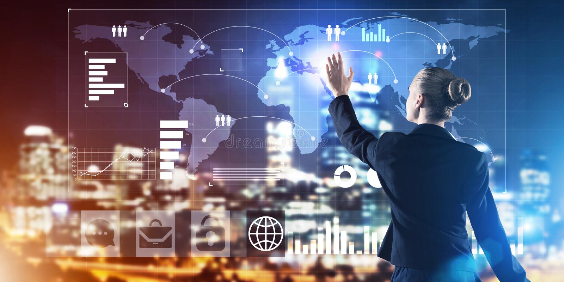 Neue Technologien und Innovationen als Methoden für effektives modernes Geschäft lizenzfreie stockfotos