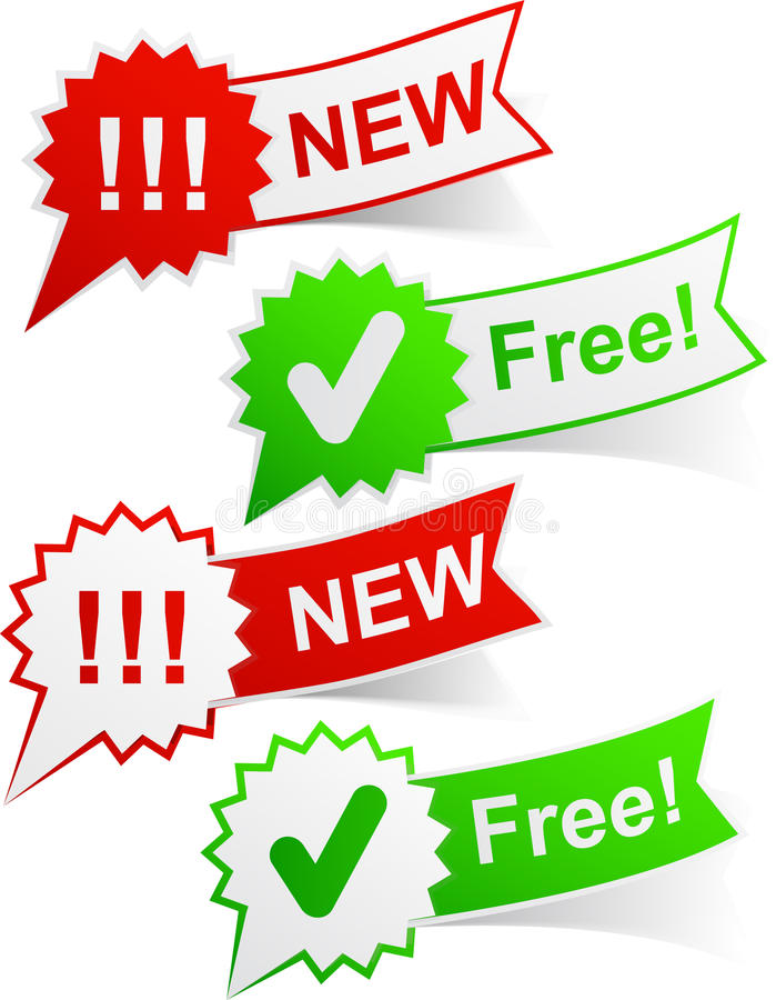 Neue und freie Marken. vektor abbildung