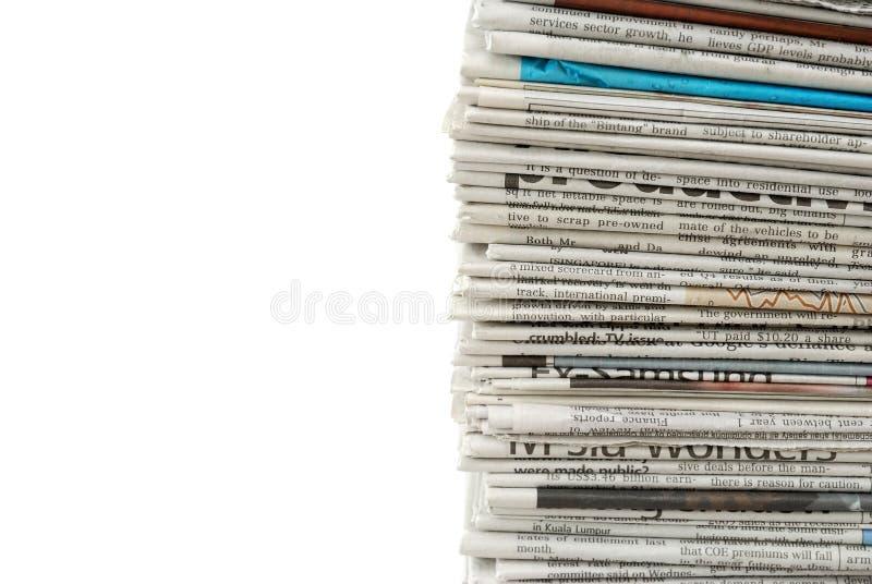 Neue und ungelesene Zeitungen lizenzfreies stockbild