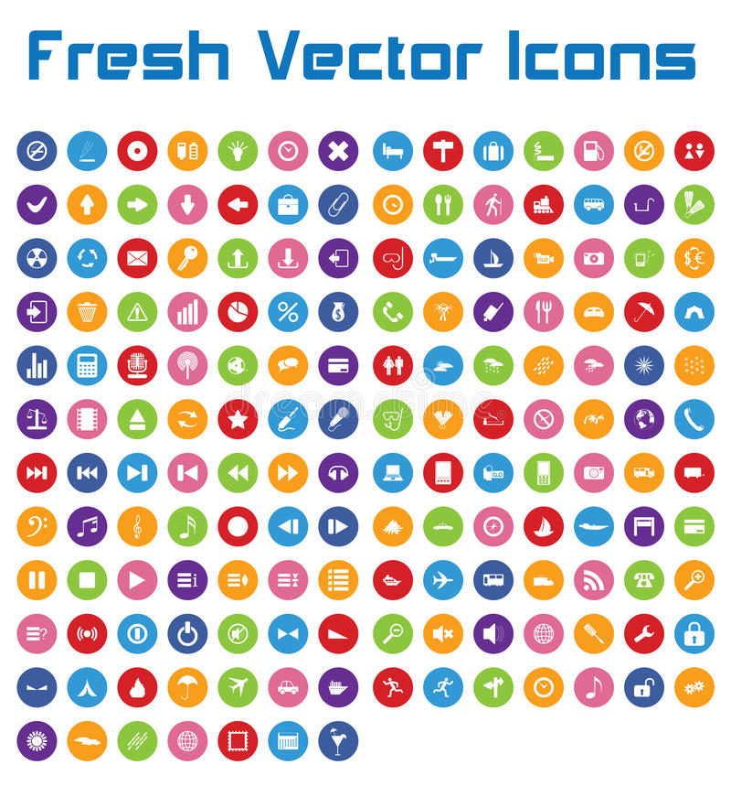 Neue Vektor-Ikonen (Kreisversion II) vektor abbildung