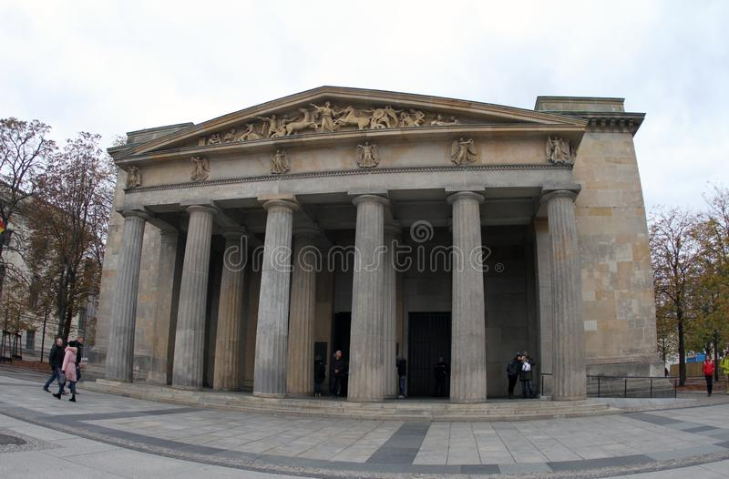 Neue Wache.`Central Memorial of the Federal Republic of Germany. Neue Wache in Berlin.Germany at day. `Central Memorial of the Federal Republic of Germany royalty free stock photography