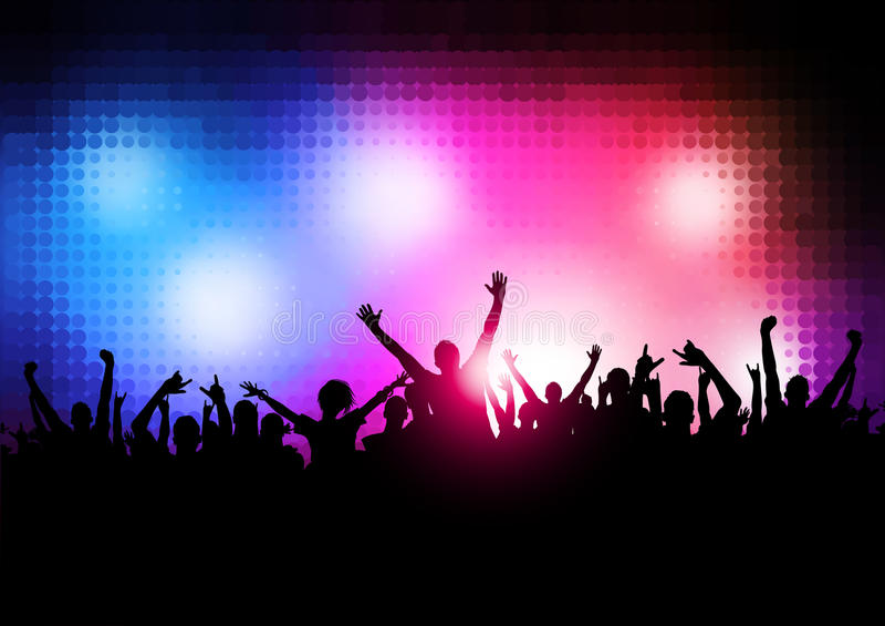 Neue Wellen-Party-Leute stock abbildung
