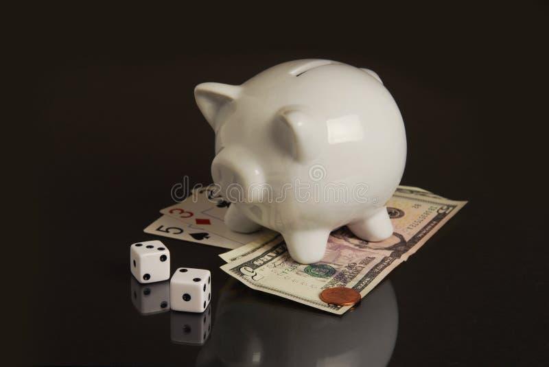 Neue Wirtschaftlichkeit ist ein Glücksspiel lizenzfreies stockfoto