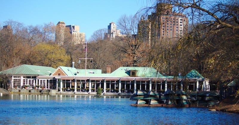 ` Neue ` York-Winter-Ansicht am See stockbild