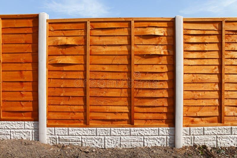 Neue Zaunplatten stockfotos