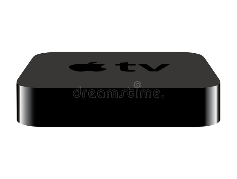 Neuer Apple Fernsehapparat stock abbildung