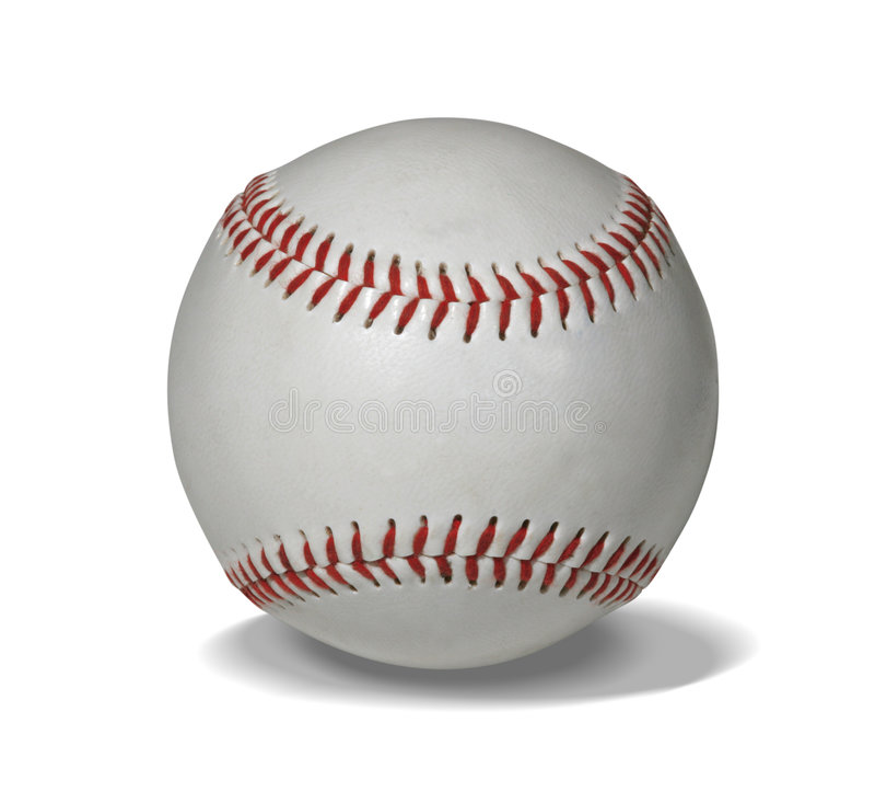 Neuer Baseball mit Pfad stockbilder