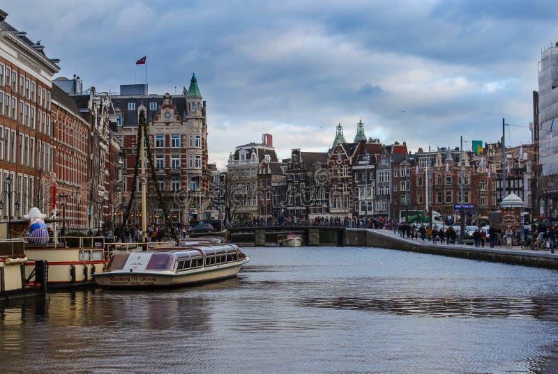 Neuer Blick in Amsterdam lizenzfreie stockfotos