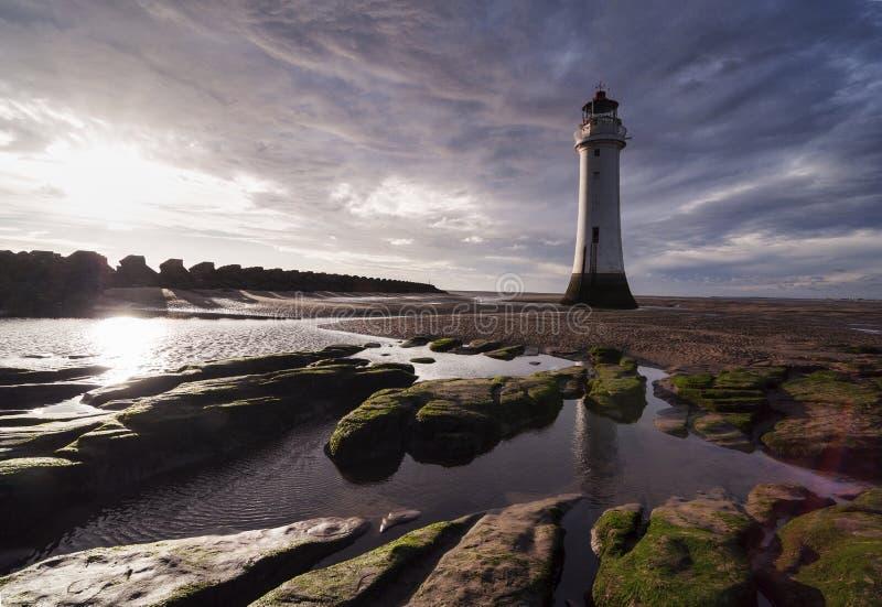 Neuer Brighton Lighthouse [Liverpool, Großbritannien] lizenzfreie stockbilder