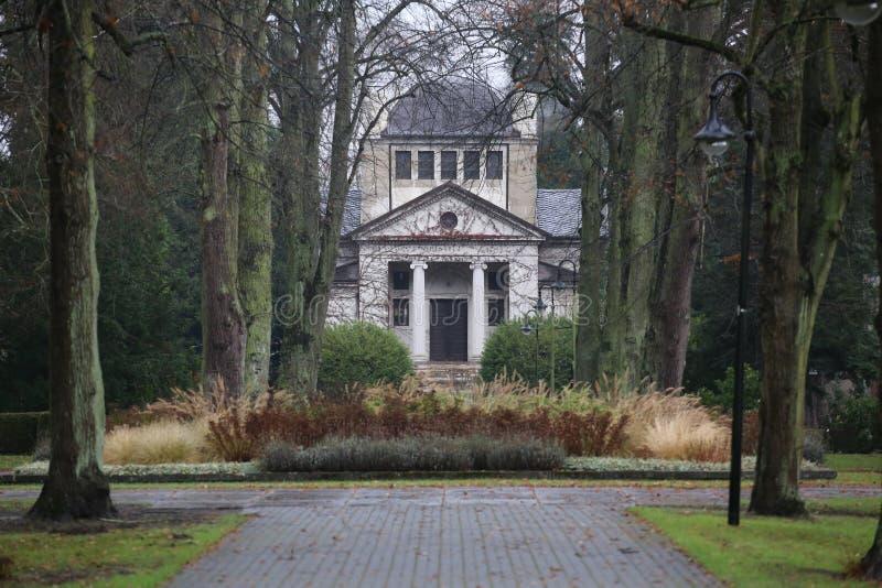 Neuer Friedhof Greifswald - capela imagem de stock royalty free