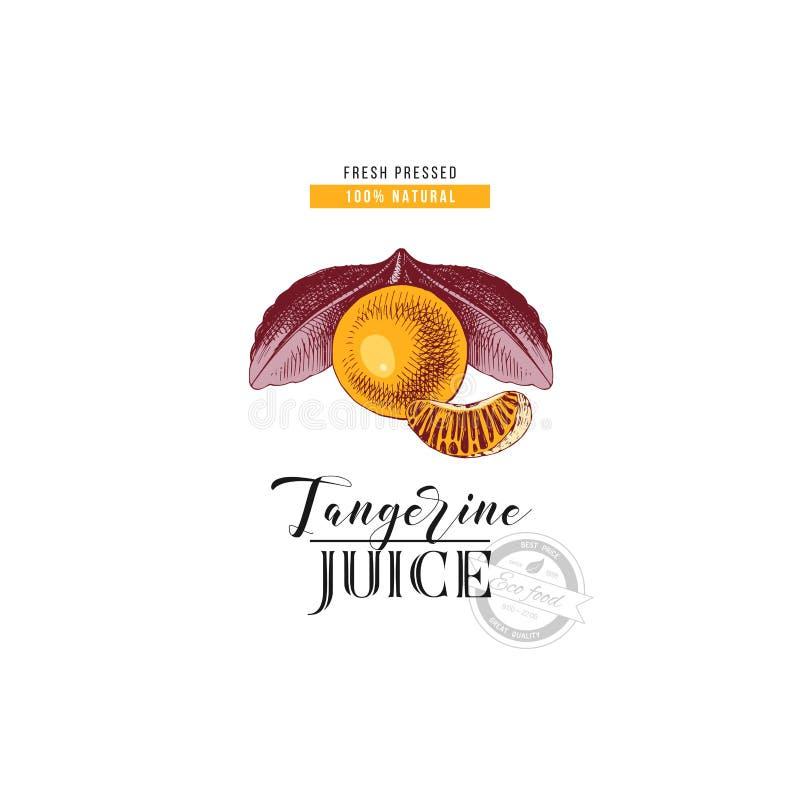 Neuer gepresster natürlicher Tangerinesafthintergrund lizenzfreie abbildung