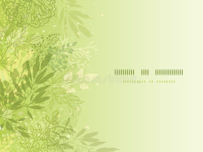 Neuer glühender Frühling pflanzt horizontalen Hintergrund vektor abbildung