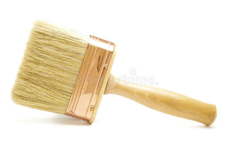 Neuer hölzerner Malerpinsel lizenzfreies stockfoto