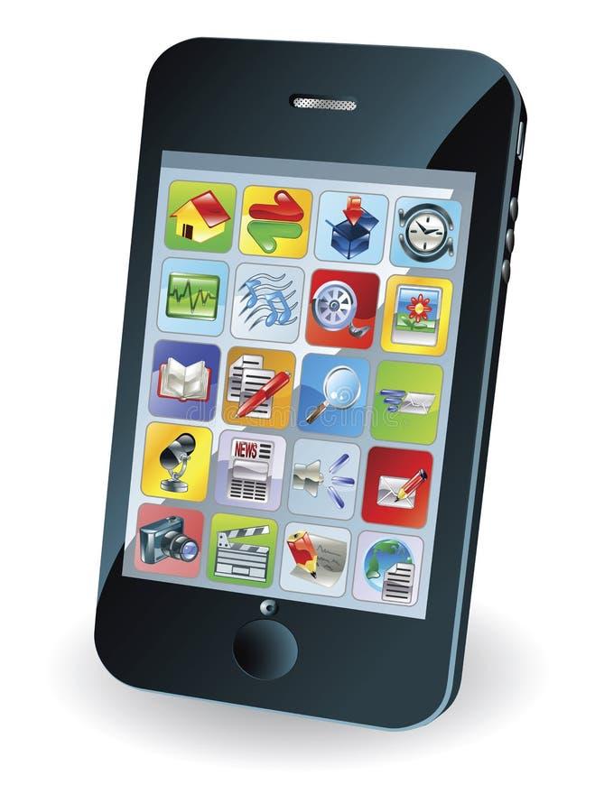 Neuer intelligenter Handy stock abbildung