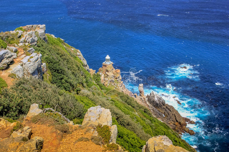 Neuer Leuchtturm des Kap-Punktes lizenzfreies stockfoto