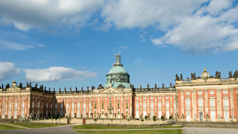 Neuer Palast in Sanssouci-Park, Potsdam, Deutschland stockfotografie